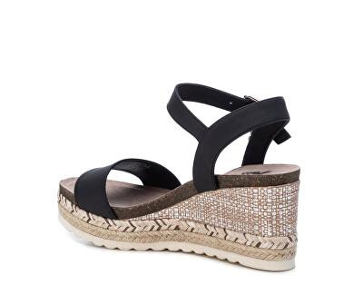 Dámské sandále Black Nobuk Pu Ladies Sandals 34242 Black