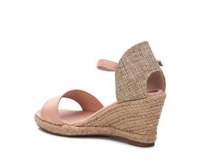 Dámské sandále Nude Microfiber Ladies Sandals 34258 Nude