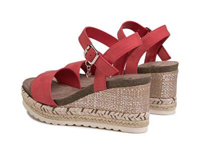 Dámské sandále Red Nobuk Pu Ladies Sandals 34242 Red