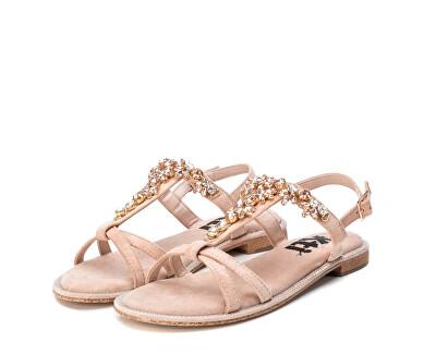 Dámské sandále Nude Microfiber Ladies Sandals 49938 Nude