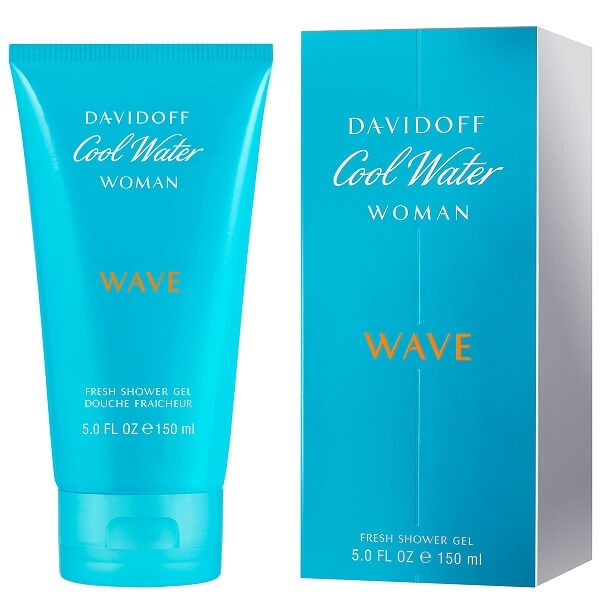 Davidoff Cool Water Wave Woman - sprchový gel 150 ml