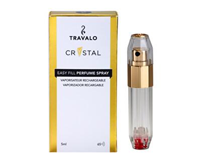 Crystal HD Elegance - plnitelný flakon 5 ml (zlatý)