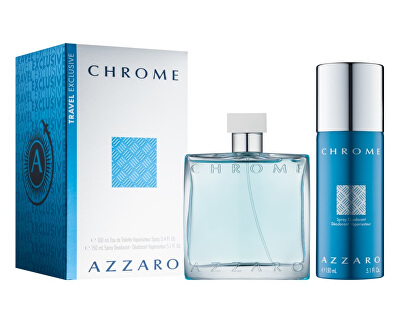 Chrome - EDT 100 ml + dezodor spray 150 ml