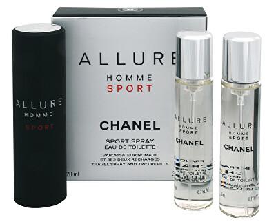 Allure Homme Sport - EDT 20 ml (újratölthető flakon) + utántöltő (2 x 20 ml)
