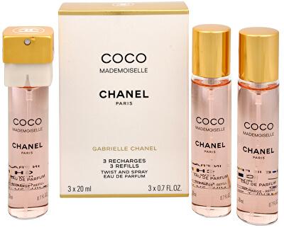 Coco Mademoiselle - EDP rezervă 3 x 20 ml