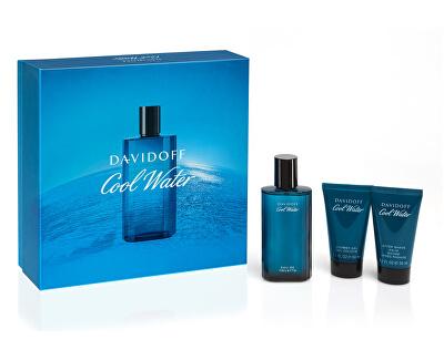 Cool Water Man - EDT 75 ml + gel de duș 50 ml + balsam după ras 50 ml