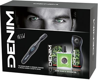 Wild - After Shave 100 ml + gel de duș 250 ml + aparat de tuns barba