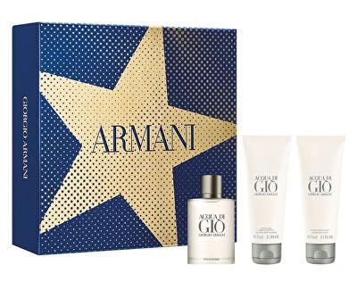 Acqua Di Gio Pour Homme- EDT 100 ml + EDT 15 ml + sprchový gel 75 ml