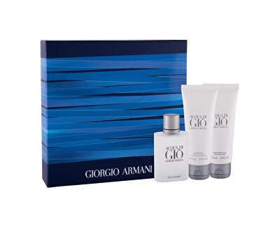 Acqua Di Gio Pour Homme - EDT 50 ml + tusfürdő 75 ml + borotválkozás utáni balzsam 75 ml