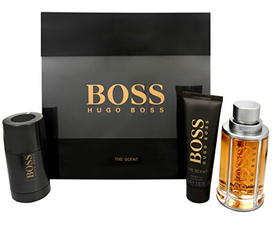 Boss The Scent - EDT 100 ml + tuhý deodorant 75 ml + sprchový gel 50 ml