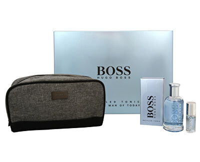 Boss Bottled Tonic - EDT 100 ml +spray de voiaj8 ml + gentuță de cosmetice