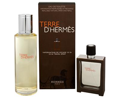 Terre D´ Hermes - EDT 30 ml (ricaricabile) + EDT 125 ml (ricarica)