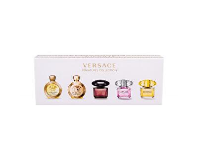 Kolekce miniatur Versace - EDT 4 x 5 ml + EDP 5 ml