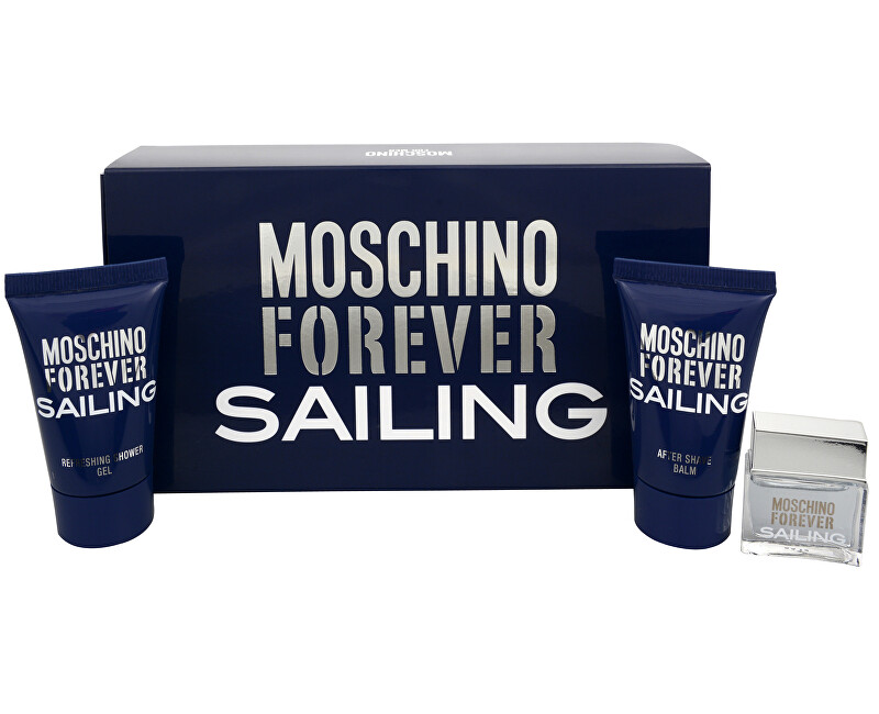 Moschino Forever Sailing EDT 4.5 ml + balzám po holení 25 ml + sprchový gel 25 ml