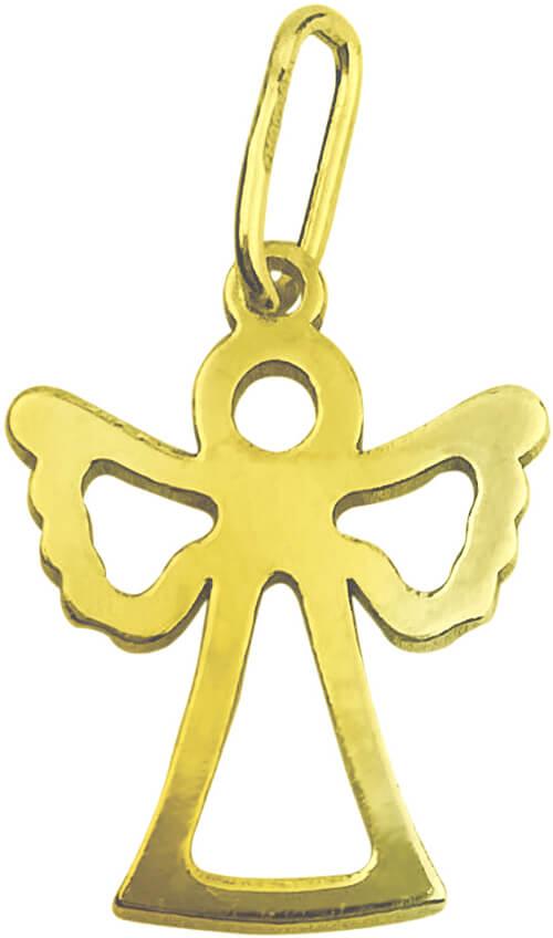 Brilio Nežný zlatý prívesok Anjelik PA7006