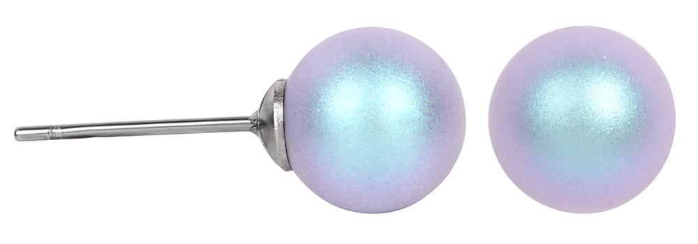 Troli Náušnice Pearl Iridescent Light Blue