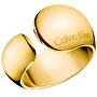 Inel de lux din oțel placat cu aur galbenInformal KJ6GJR1001