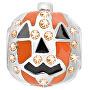 Ocelový přívěsek Drops Halloween Pumpkin SCZ123