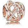 Bronzeperle mit funkelnden Kristallen 781388CZ