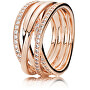 Bronzový propletený prsten 180919CZ