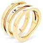 Pozlátený oceľový prsteň TH2701100