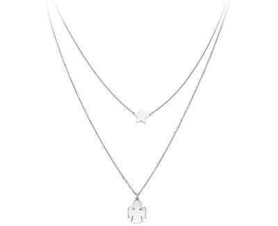 Dvojitý stříbrný náhrdelník Angels CLASB