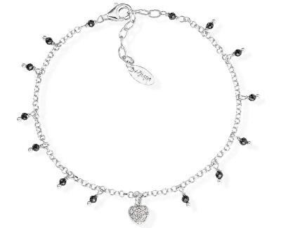 Originální stříbrný náramek s krystaly a zirkony Romance BRCBNZ