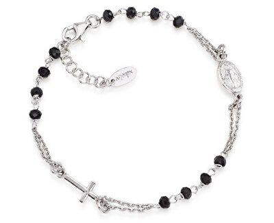 Originálne strieborný náramok s kryštálmi Rosary BROBN3