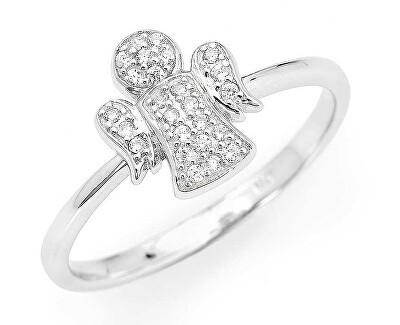 Originální stříbrný prsten se zirkony Angels RA