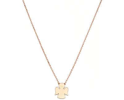 Růžově pozlacený stříbrný náhrdelník Angels CLAR3