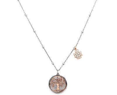 Colier din argint placat cu aur roz CLAL