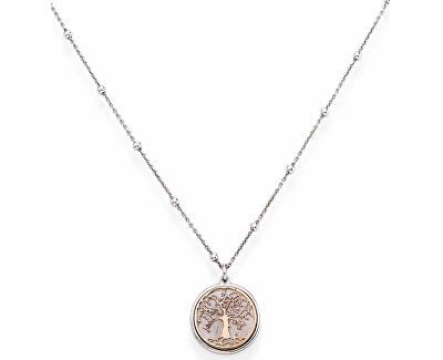 Ružovo pozlátený strieborný náhrdelník Tree of Life CLAL3