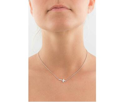 Originálne strieborný náhrdelník Pray, Love CLCB3