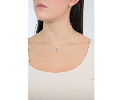 Originální stříbrný náhrdelník se zirkony Angels CLWH1