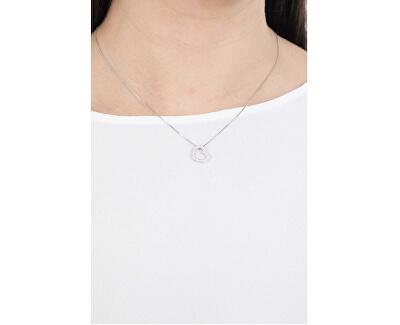 Originálne strieborný náhrdelník so zirkónmi Love CLHE2