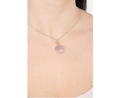 Originální stříbrný náhrdelník Tree of Life CLALABR3 (řetízek, přívěsek)