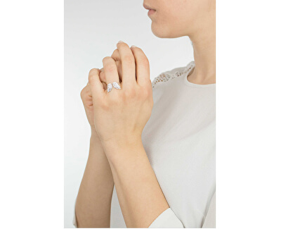 Originálne strieborný prsteň so zirkónmi Angels RW