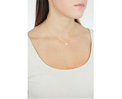 Pozlacený stříbrný náhrdelník Pray, Love CLHG3
