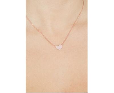 Ružovo pozlátený strieborný náhrdelník Pray, Love CLHR3