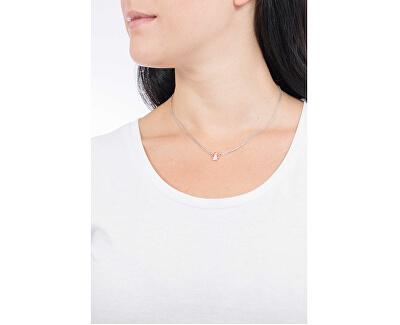Ružovo pozlátený strieborný náhrdelník so zirkónmi Angels CL2ABR