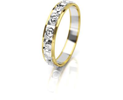 Dámský bicolor snubní prsten ze zlata AUG303