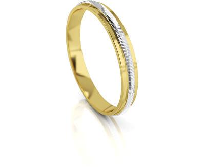 Pánský bicolor snubní prsten ze zlata AUG328