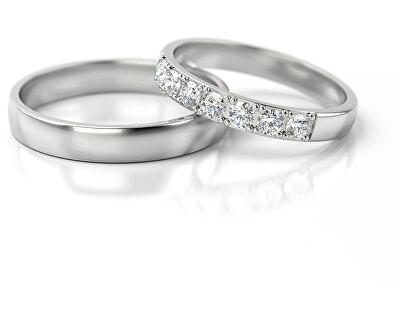 Dámský snubní prsten z bílého zlata se zirkony AUGDR015