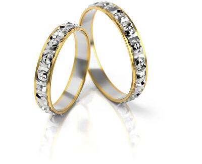 Pánský bicolor snubní prsten ze zlata AUG303