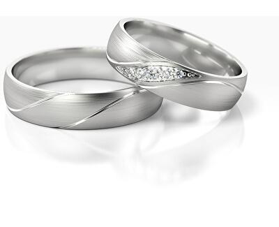 Pánský snubní prsten z bílého zlata AUG284