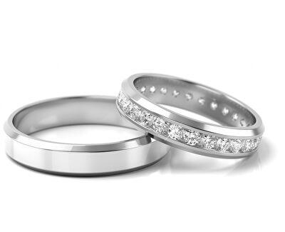 Pánský snubní prsten z bílého zlata AUGDR001