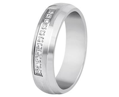 Dámský prsten z oceli s krystaly SPD03