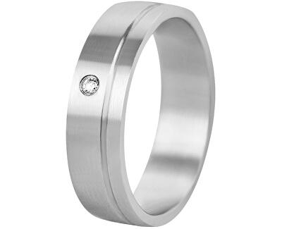 Dámský prsten z oceli s krystelem SPD06