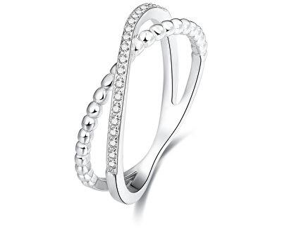 Dvojitý prsten ze stříbra AGG145