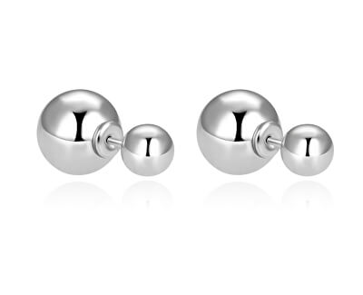 Nadčasové dvojité náušnice ze stříbra AGUP2625